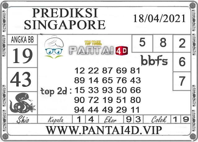 PREDIKSI TOGEL SINGAPORE PANTAI4D 18 APRIL 2021