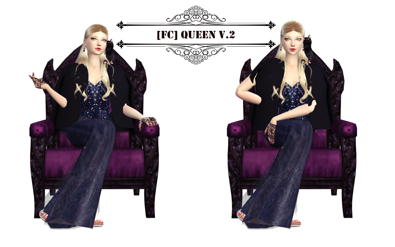 Queen Pose Set Chair Sitting By Flowerchamber
