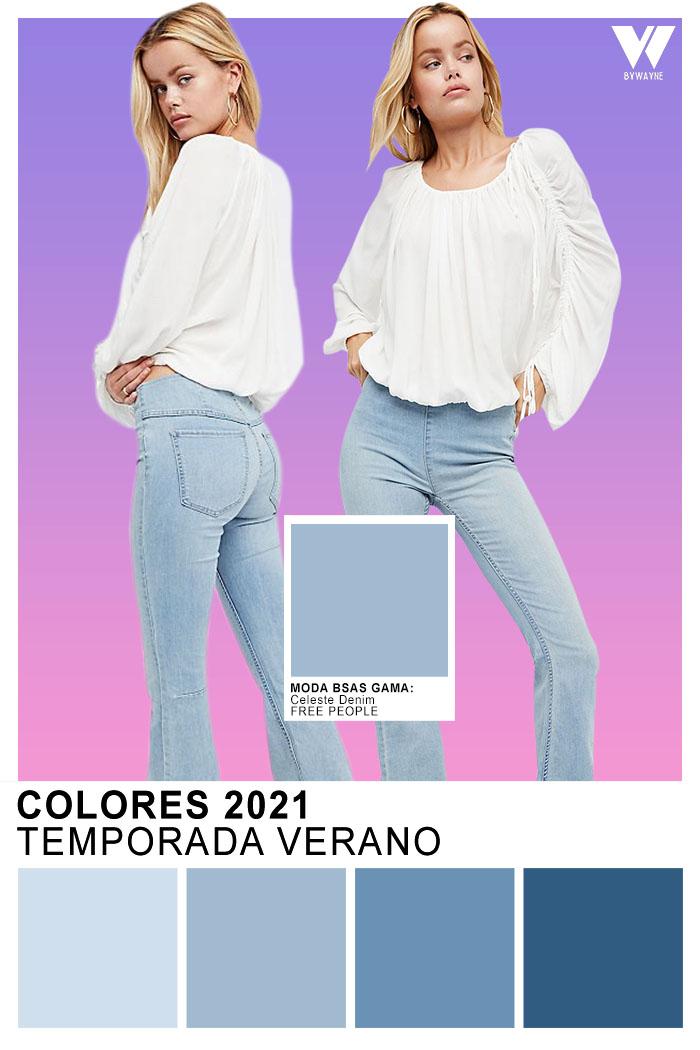Moda verano 2021 Colores Azul denim