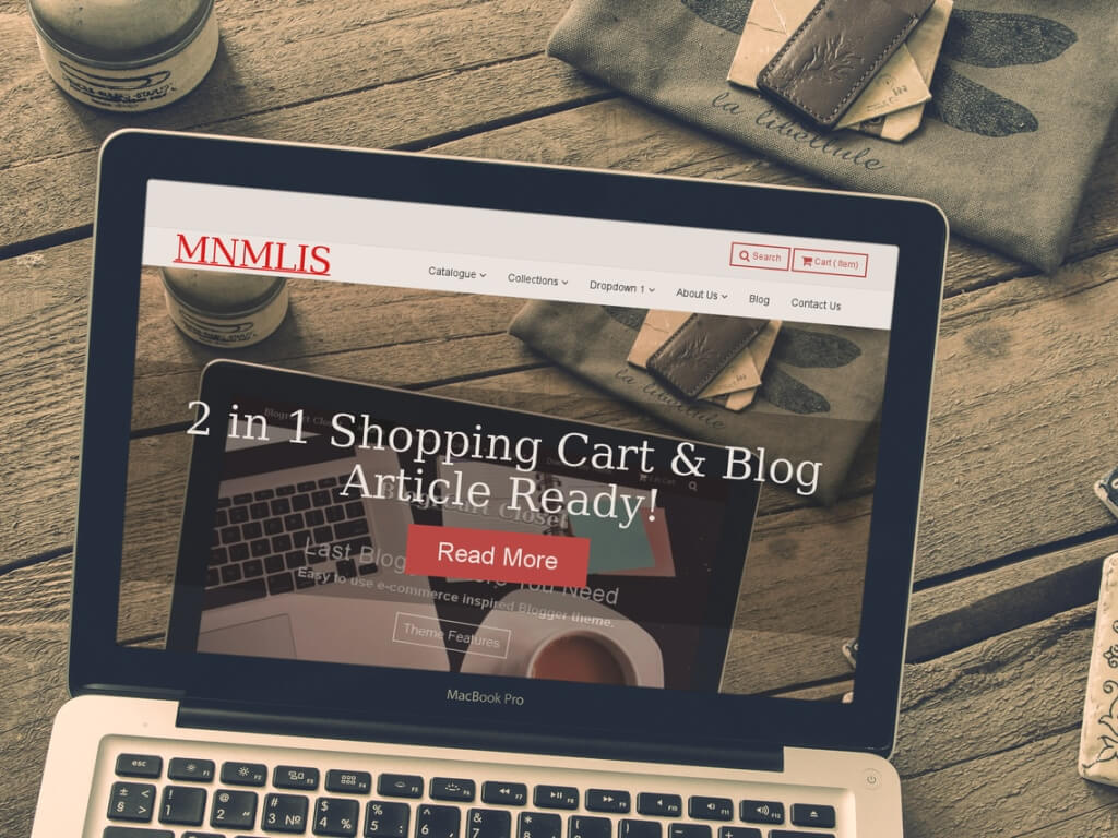2 in 1 Shopping Cart & Blog Article Ready!