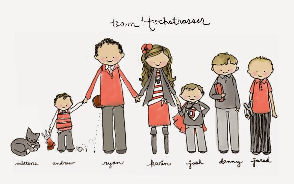 hand drawn family picture