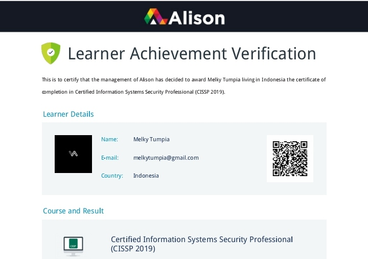 Certified Information System Security Professional (CISSP) 2019