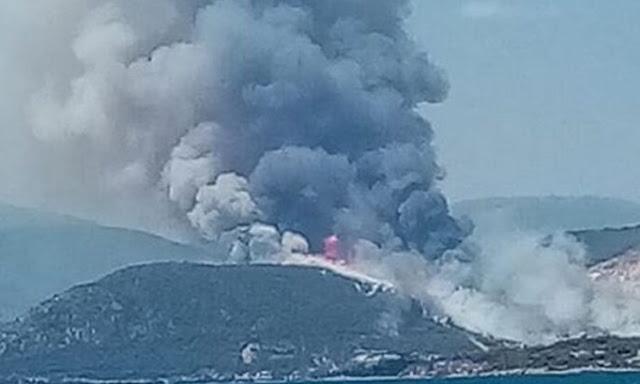 Εκκενώνονται οικισμοί από τη φωτιά στις Κεχριές Κορινθίας (βίντεο)