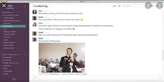 Aplikasi Percakapan Slack