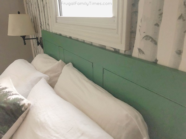 reclaimed headboard green