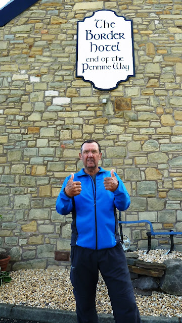 At the border hotel on the pennine way 2015
