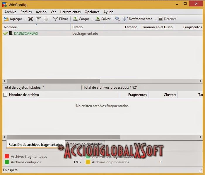 Desfragmenta archivos individualmente