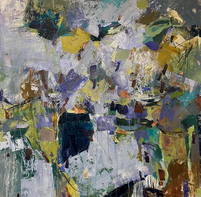 Abstract art by artist Karri Allrich, acrylic painting