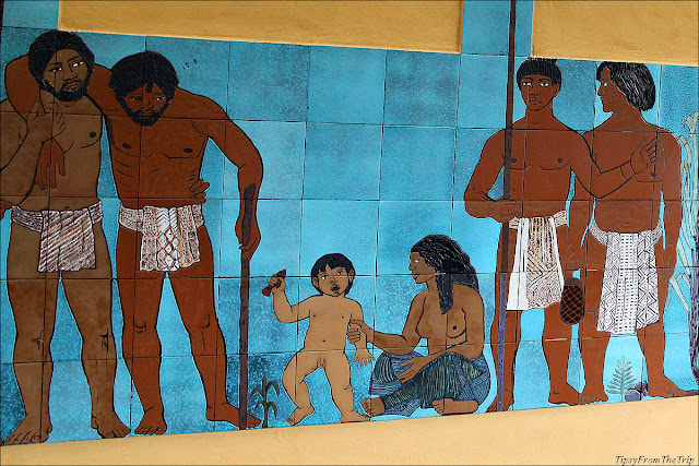 Mural at  Pu'uhonua O Honaunau