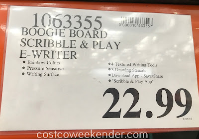 Deal for the Boogie Board Scribble n' Play eWriter at Costco
