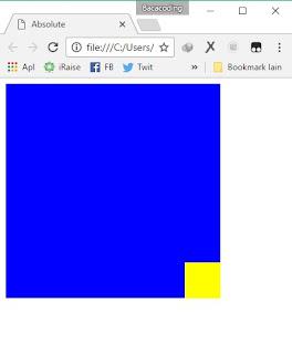 Cara Memposisikan Website Menjadi Absolute (Positioning CSS)