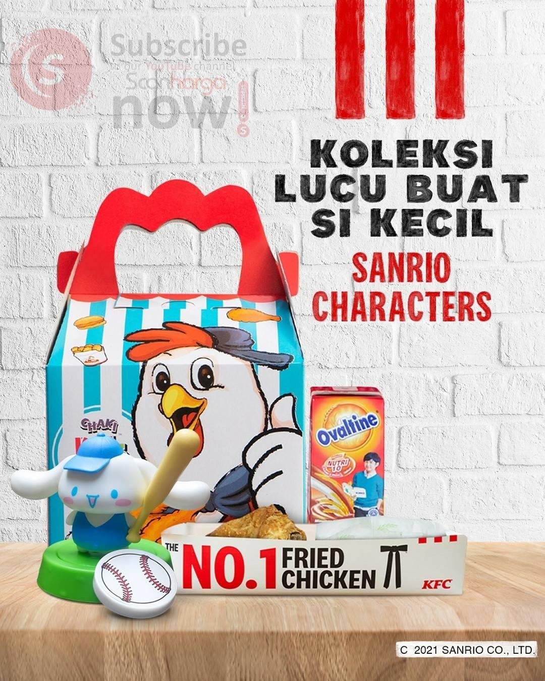 Promo KFC Beli Menu CKM (Chaki Kid Meal) Dapatkan Sanrio Characters