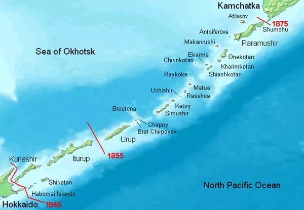 Kuril Islands with Russian names