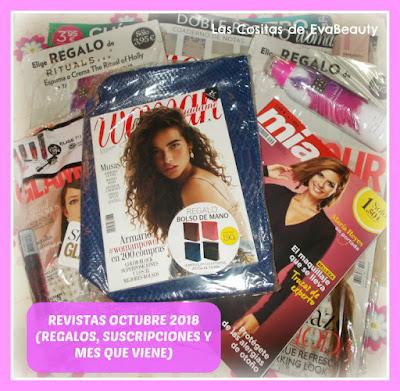 Revistas Octubre 2018 (Regalos, suscripciones y mes que viene)