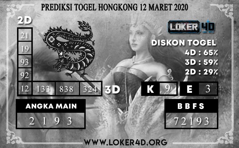 PREDIKSI TOGEL HONGKONG  LOKER4D 12 MARET 2020