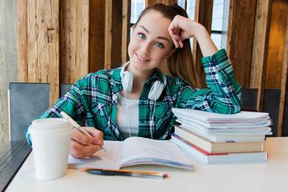 How to study, study girl