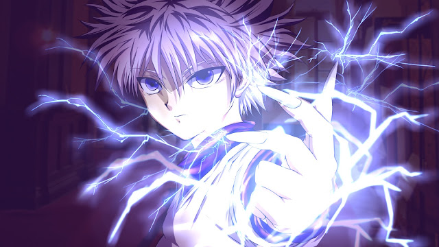 wallpaper hunter x hunter killua lightning