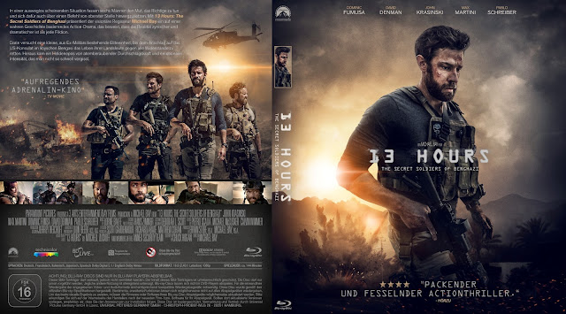 13 Hours: The Secret Soldiers of Benghazi Bluray Cover