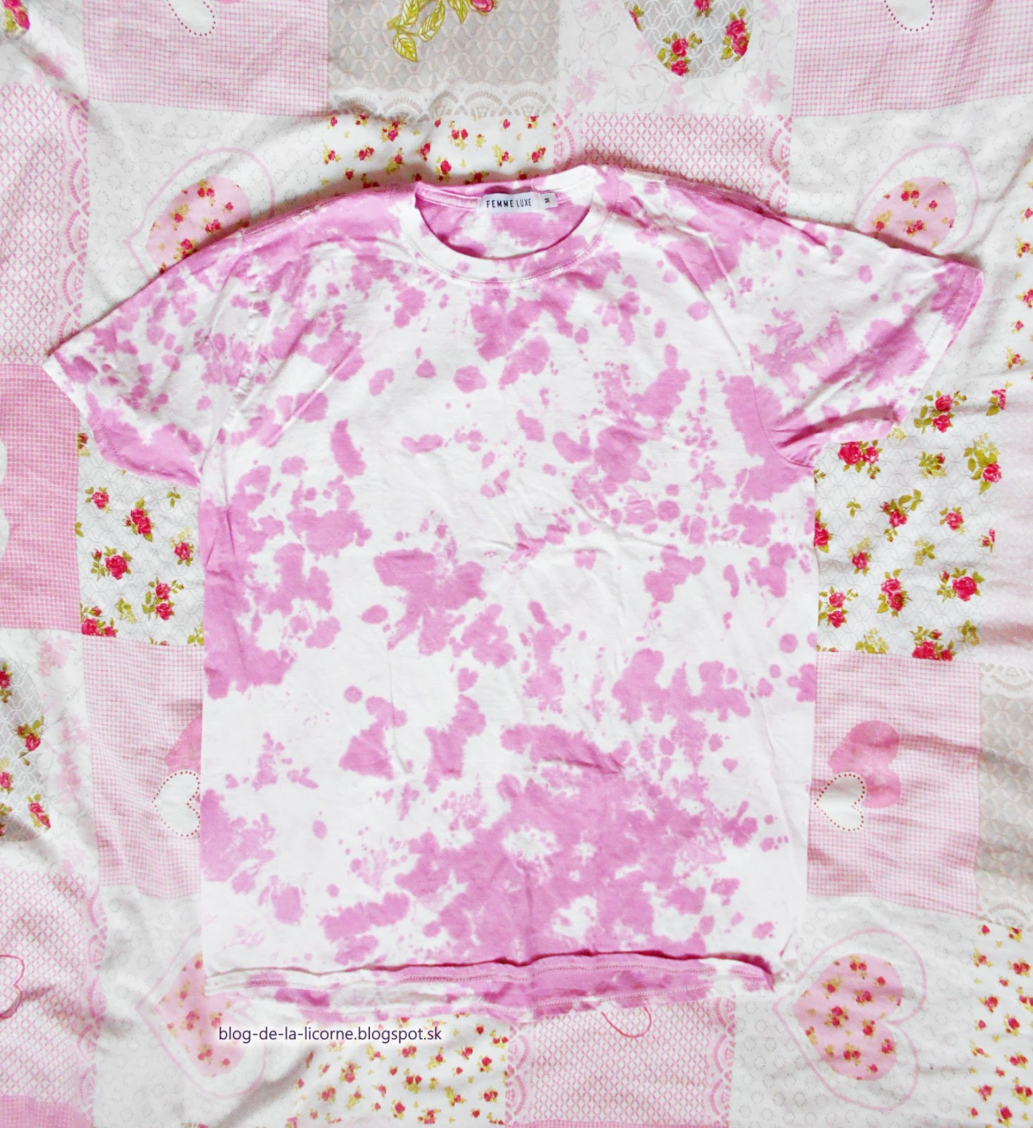 Femme Luxe Finery Pink Tie Dye Oversized T-Shirt Veda review