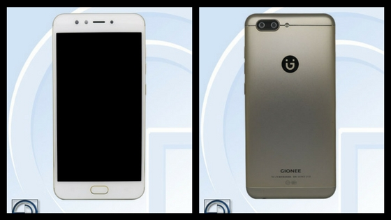 Gionee S10 front and rear