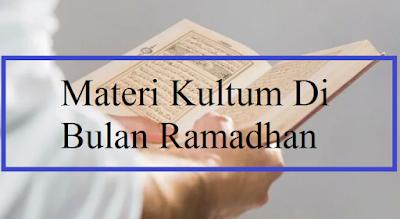 Materi Kultum Di Bulan Ramadhan