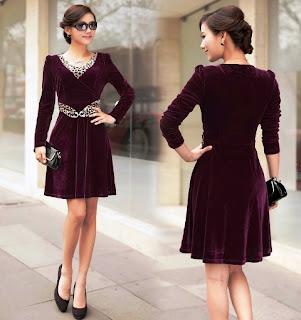 Model baju Dress  Lengan Panjang Anak Remaja