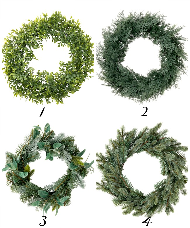artificial ikea wreaths, faux wreaths, ikea decor