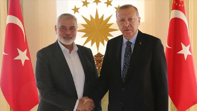 Ο Ερντογάν υποδέχθηκε με τιμές τον αρχηγό της Χαμάς!
