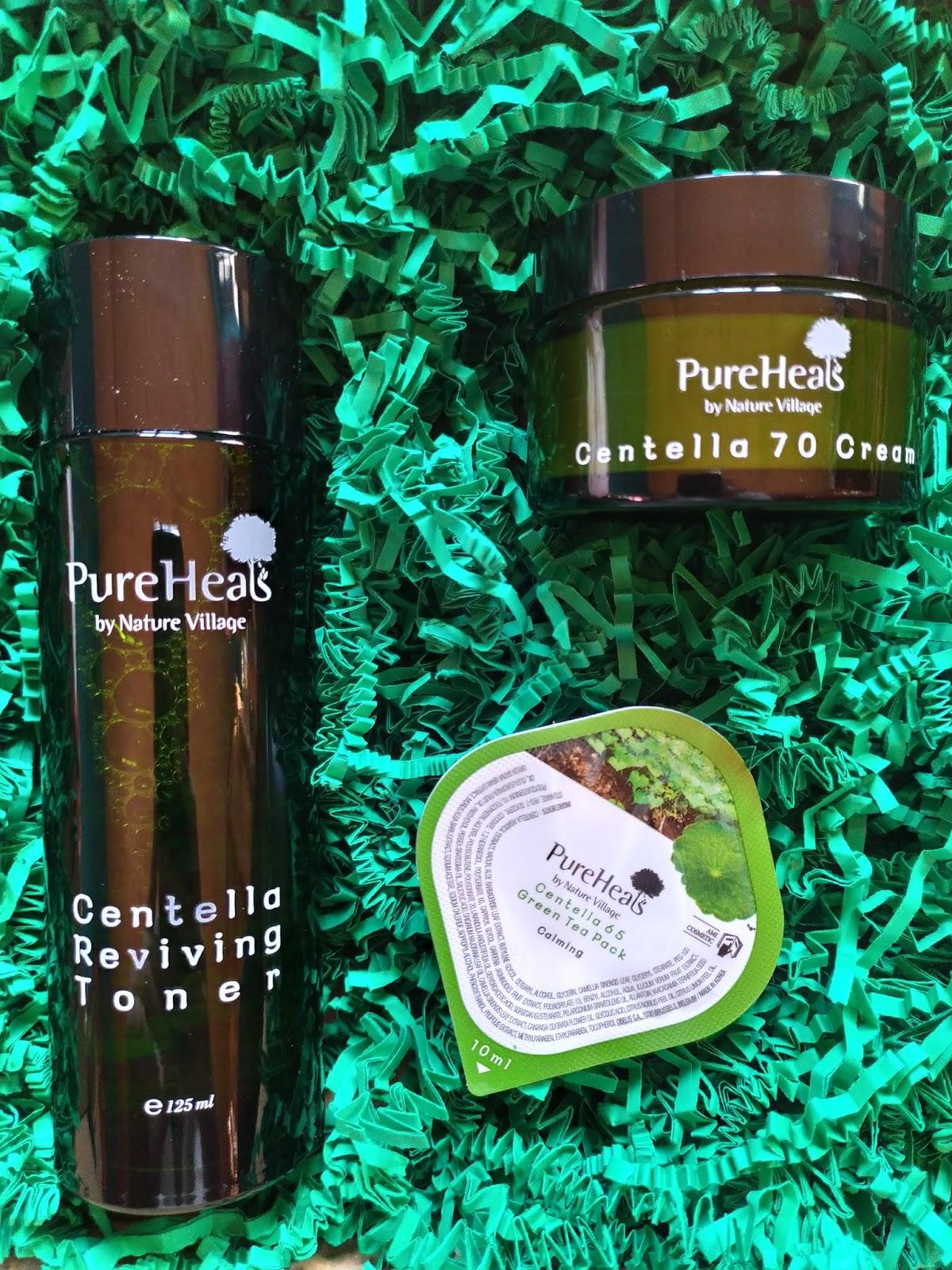 Pure Heals Centella - maseczka, tonik i krem