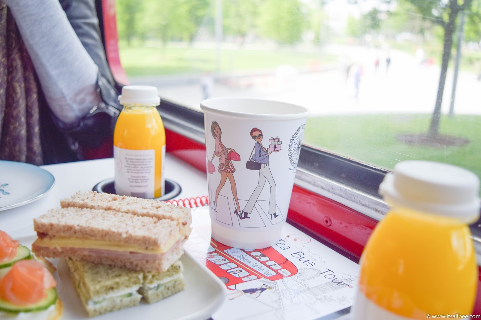 Afternoon Tea on a London bus, afternoon tea bus tour london, london afternoon tea bus tour