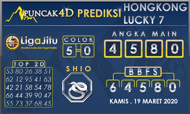 PREDIKSI TOGEL HONGKONG LUCKY7 PUNCAK4D 19 MARET 2020
