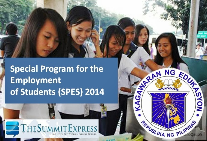 DepEd now accepts applications for student employment (SPES) 2014