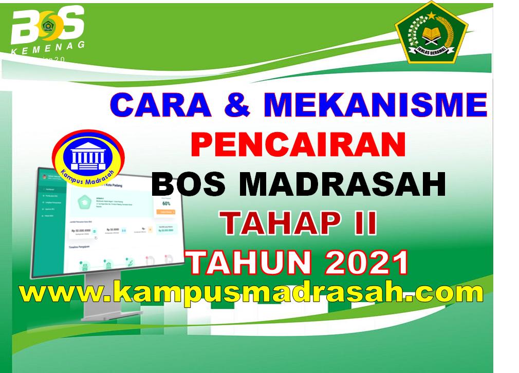 Pencairan BOS Madrasah Tahap II