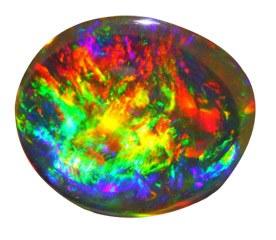 El opalo es una de las gemas mas bonitas que existen por sus reflejos multicolores