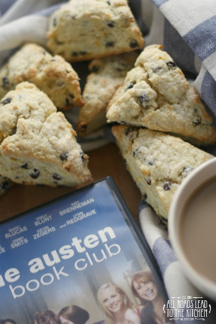 Orange Currant Scones inspired by The Jane Austen Book Club for #FoodnFlix