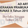 AD ART Gerakan Pramuka Terbaru Tahun 2019 Hasil Munas X 2018 (Anggaran Dasar dan Rumah Tangga) - PART 1