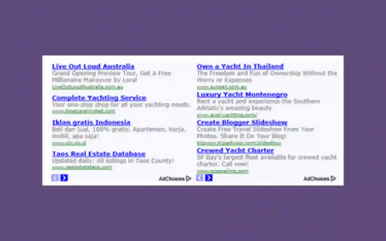 banner iklan google adsense berdampingan