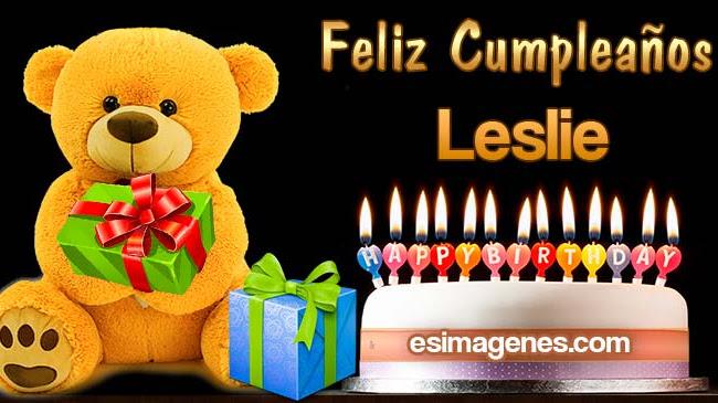 Feliz Cumpleaños Leslie
