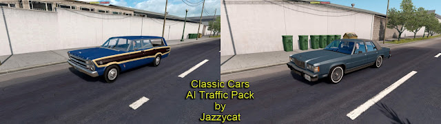 ats classic cars ai traffic pack v2.7 screenshots 1, Mercury Grand Marquis '86, Ford Country Squire '66