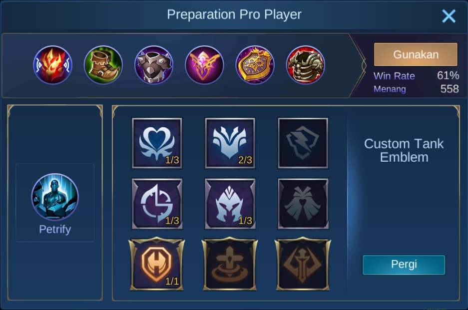 build item johnson mobile legends (ML)