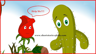Rose requesting help from cactus for survival