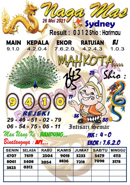 Syair Nagamas Sdy Rabu 26 Mei 2021