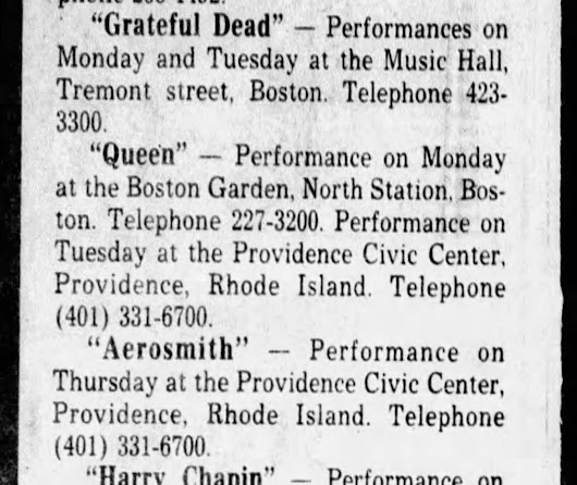 40th Birthday of my 18th Show: November 14, 1978 Boston Music Hall