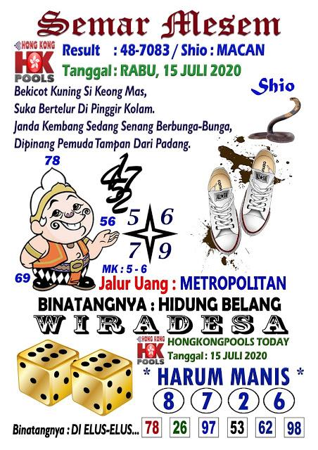 Prediksi Syair Hk 15 Juli 2020 Keluaran Hk Hari Ini Jakarta4d