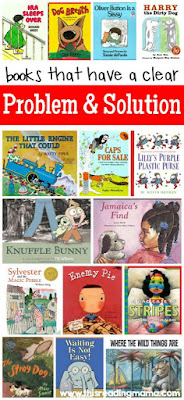 Books for Story Elements: Activities and teaching ideas- educational ideas for characters, setting, events, problem and solution, and more. Hands-on ideas for a first grade, second grade, and third grade classroom.