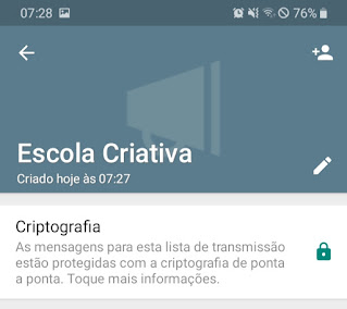 Tutorial lista de transmissão no Whatsapp
