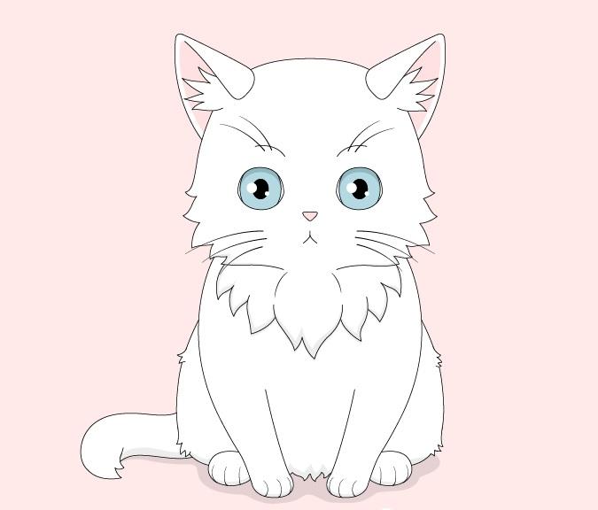 Gambar kucing anime