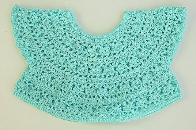 4 - Crochet Imagen Canesú redondo sacado del cuadrado por Majovel Crochet