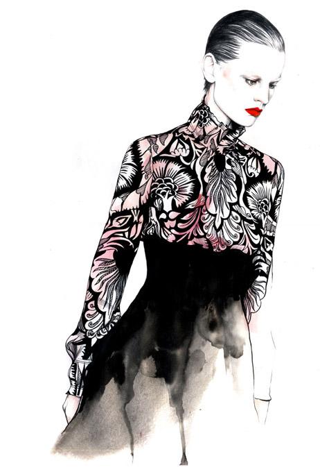 POPAmoda: Caroline Andrieu Fashion illustrations