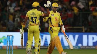 Ambati Rayudu 82 | MS Dhoni 70* - RCB vs CSK 24th Match IPL 2018 Highlights